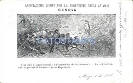 17814 ITALY GENOVA LIGURIA ASSOCIATION FOR PROTECTION OF ANIMALS BIRDS CIRCULATED TO ALESSANDRIA POSTAL POSTCARD - Italie