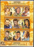 Madagascar,History Of Cinema-French Actors 1999.,mini Sheet-imperforated,MNH - Madagaskar (1960-...)