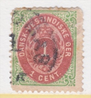 DANISH  WEST  INDIES  5 B  Fault   (o)  RED-VIOLET - Denmark (West Indies)