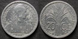 INDOCHINE  20 Cent 1945  B  FRANCAISE INDOCHINA   PORT OFFERT - Camboya