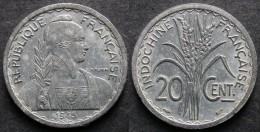 INDOCHINE  FRANCAISE 20 Cent 1945  Monnaie Coloniale  INDOCHINA   PORT OFFERT - Viêt-Nam