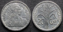 INDOCHINE  FRANCAISE 20 Cent 1945  Monnaie Coloniale  INDOCHINA   PORT OFFERT - Laos