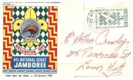 (741) New Zealand - FDC Cover - Scout Jamboree Wellington Kiwi 1966 (older) - FDC