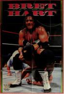 Wrestling Plakat : Bret Hart  -  Von World Wrestling Federation Magazin Ca. 1990 - Kampfsport