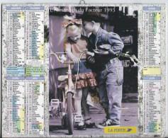 Calendrier Des Postes 1995 69 RHONE - Calendars