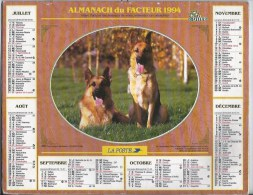 Calendrier Des Postes 1994 69 RHONE - Calendars