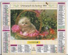 Calendrier Des Postes 1994 69 RHONE - Big : 1991-00