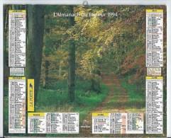 Calendrier Des Postes 1994 01 Ain - Big : 1991-00