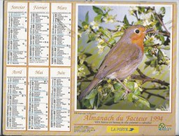 Calendrier Des Postes 1994 69 Rhone - Groot Formaat: 1991-00