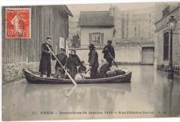Cpa PARIS INNDATIONS DE JANVIER 1910 RUE FELICIEN DAVID - Paris Flood, 1910