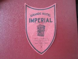 MISC HOTEL MOTEL INN HOUSE IMPERIAL CAMPINAS BRAZIL BRASIL LUGGAGE LABEL ETIQUETTE KOFFER AUFKLEBER DECAL STICKER - Etiquettes D'hotels