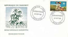 Benin-Dahomey, Kenaf, Nr 390 FDC (07156) - Végétaux