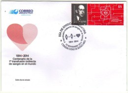 ! ARGENTINE / ARGENTINA: Medicine - Médecine / Blood Transfusion - 1ère Transfusion Sanguine (2014) FDC / 1er Jour - Argentine