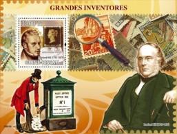 Guinea Bissau 2009, Inventors, R. Hill, stamp on stamp, BF