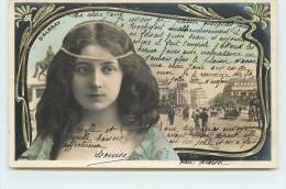 D'ALBRAY - Portrait , Présentation Style Art Nouveau (Photographe Reutlinger). - Théâtre