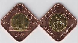 KURDISTAN 2500 Dinars 2006 Bimetal, Oil Refinery, Unusual Coinage - Monete