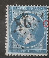 Belle TACHE BLANCHE,  Napoléon Dentelé. - 1862 Napoleon III