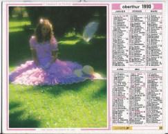 Calendrier Des Postes 1990  83 Var - Calendars