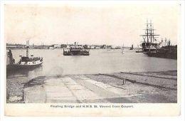 Gosport - Floating Bridge & HMS St Vincent - 1905 Used Postcard - Angleterre