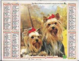 Calendrier Des Postes 1990  69 Rhone - Calendars