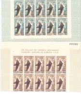 ESPAÑA 1963.EDIFIL Nº 1519/1520.EUROPA CEPT.BLOQUE DE 10 SELLOS NUEVOS SIN CHARNELA.SES72GRANDE - 1931-Aujourd'hui: II. République - ....Juan Carlos I