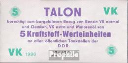 DDR Wertgutschein Für Alle öffentliche Tankstellen Der DDR Bankfrisch 5 Kraftstoff-Werteinheiten Talon - [ 6] 1949-1990 : RDA - Rep. Dem. Tedesca