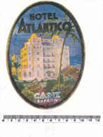 ETIQUETTE -  HOTEL Atlantico - Cadiz - Werbung