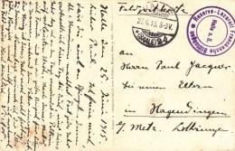 """""""Reserve-Lazarett Franckesche Stiftungen / Halle A. S."""" + TàD HALLE Du 27.6.15 Sur CP De CROUY - Marcophilie (Lettres)"""