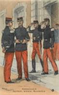 SERVICE DE SANTE Des ARMEES - SECRETAIRE,INFIRMIER -UNIFORME -ILLUSTRATEUR; M. TOUSSAINT- CPA AQUARELLE - En Bel état. - Uniformi