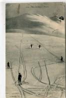 CPA 05  DANS LES ALPES EN SKIEURS  1910 - France