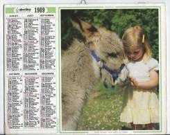 Calendrier Des Postes 1989  69 Rhone - Tamaño Grande : 1981-90