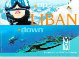 PUB Publicité -LIBAN Nouveau Concentré De Plaisirs (Up Down)  (Plongée Ski)( Office Du Tourisme Du Liban )*PRIX FIXE - Publicité