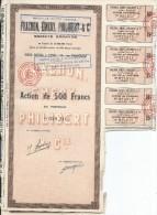 Action De 500 Francs Au Porteur/Frachon'Emery,Philibert & Cie/LYON//1956    ACT89 - Afrique