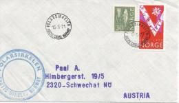 NORUEGA CC MAT CIRCULO POLAR ARCTIC CIRCLE POLARSIRKELEN 1971 - Filatelia Polar