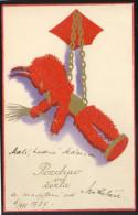 KRAMPUS DEVIL EMBOSSED OLD POSTCARD #336 - Saint-Nicholas Day