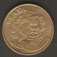 BRASILE 25 CENTAVOS 2007 - Brasile