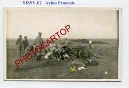 SISSY-AVION Francais-Pilote-Aviation-Flugzeug-Aircraft-CARTE PHOTO Allemande-Guerre14-18-1WK-Militaria-France-02-Feldpos - Unclassified