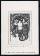 """GRAVURE 2004 """" Sarah Bernhardt """" D'ALPHONSE MUCHA - Documents De La Poste"""