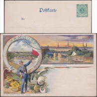 Allemagne Vers 1898. Carte Entier Postal Timbré Sur Commande. Hamburg Lombardsbrücke. Cygnes, Pont, Bite D'amarrage - Cygnes