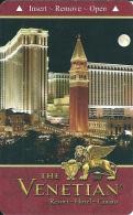 HOTEL THE VENETIAN LAS VEGAS  Llave Clef Key Keycard Karte Hotelkarte - Etiquettes D'hotels