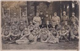 CARTE PHOTO,MILITAIRE,MILITARIA,08,ARDENNES,VAUX LES MOURON,1915,POILU,HERO DE GUERRE,ENTRAINEMENT - France