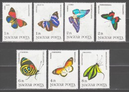 Hungary 1984 Ungarn Mi 3681-3687 Butterflies / Schmetterlinge **/MNH - Vlinders