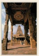 INDIA- THANJAVUR:  IL  TEMPIO  DI  BRIHADISHVARA      (NUOVA CON DESCRIZIONE DEL SITO SUL RETRO) - India