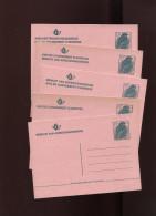 Belgie Buzin 5 Briefkaarten Adresverandering 13Fr COMPLETE SET ALLE TALEN RR - 1985-.. Oiseaux (Buzin)