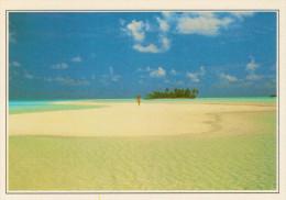 MALDIVE-  RIHIVELI:     SPIAGGIA  CORALLINA            (NUOVA CON DESCRIZIONE DEL SITO SUL RETRO) - Maldive