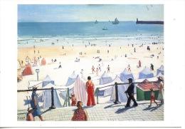 Les Sables D'Olonne : Albert Marquet (1875/1947) La Plage Au Remblai Quadrillé (1933) Huile Sur Toile (arts Tableaux Poi - Sables D'Olonne