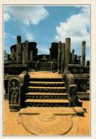 POLONNARUVA:  PARTICOLARE  DELLA ZONA  ARCHEOLOGICA             (NUOVA CON DESCRIZIONE DEL SITO SUL RETRO) - Sri Lanka (Ceylon)
