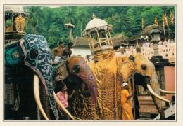 SRI LANKA   KANDY:   ELEFANTE CHE PORTA IL DENTE SACRO DI BUDDHA             (NUOVA CON DESCRIZIONE DEL SITO SUL RETRO) - Sri Lanka (Ceylon)