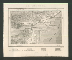Dundee, Carnoustie, Broughty Ferry, Monifieth, Easter Newport, Leuchars, Tent Moor, Lochee, Vintage :  1877 . - Geographical Maps