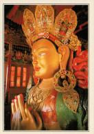 INDIA-LADAKH   IL BUDDHA  DEL  MONASTERO  DI  TIKSE            (NUOVA CON DESCRIZIONE DEL SITO SUL RETRO) - India
